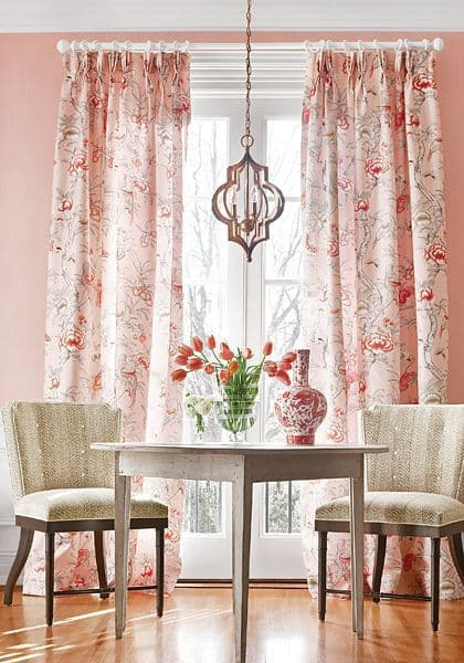 Thibaut Giselle Fabric in Pale Pink